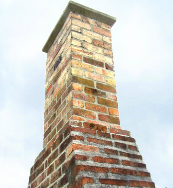 Chimney for wood burning fireplace