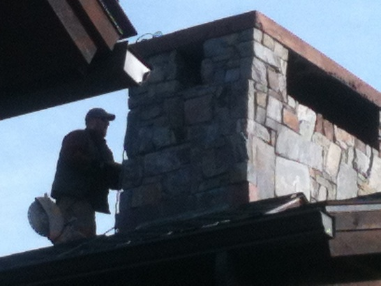 Installation of chimney top cover